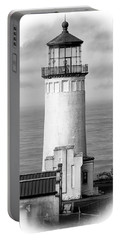 North Head Lighthouse Black And White Photograph Portable Battery Charger