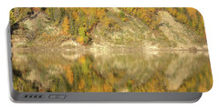 North Saskatchewan River Reflections Portable Battery Charger by Jim Sauchyn