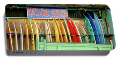 Portable Battery Charger featuring the photograph North Shore Surf Shop 1 by Jim Albritton