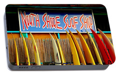 Portable Battery Charger featuring the photograph North Shore Surf Shop 2 by Jim Albritton