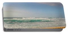 North Shore Waves In The Late Afternoon Sun Portable Battery Charger