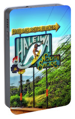 Portable Battery Charger featuring the photograph North Shore's Hale'iwa Sign by Jim Albritton