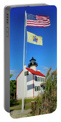 North Wind At East Point Light Portable Battery Charger
