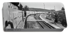 Portable Battery Charger featuring the photograph Northbound Amtrak Coast Starlight, Early Days, San Luis Obispo, California by Frank DiMarco