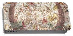 Northern Boreal Hemisphere, From The Celestial Atlas Portable Battery Charger by Andreas Cellarius