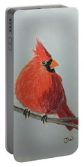 Northern Cardinal On Branch Portable Battery Charger