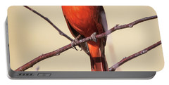 Northern Cardinal Profile Portable Battery Charger by Ricky L Jones