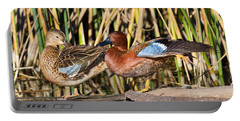 Northern Cinnamon Teal Pair Portable Battery Charger