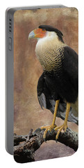 Northern Crested Caracara At Sunset Portable Battery Charger
