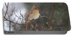 Northern Female Cardinal Portable Battery Charger