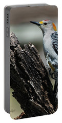 Northern Flicker Leaping Portable Battery Charger by Karen Slagle
