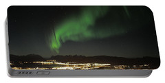 Northern Light In Troms, North Of Norway Portable Battery Charger