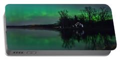 Northern Lights At Gull Lake Portable Battery Charger