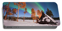 Portable Battery Charger featuring the photograph Northern Lights By The Lake by Delphimages Photo Creations
