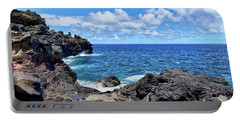 Northern Maui Rocky Coastline Portable Battery Charger