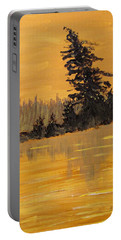 Portable Battery Charger featuring the painting Northern Ontario Three by Ian  MacDonald