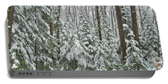 Northern Winter Portable Battery Charger by Michael Peychich