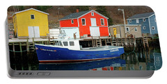 Northwest Harbour, Nova Scotia, Canada In Winter Portable Battery Charger
