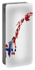 Norway Typographic Map Flag Portable Battery Charger