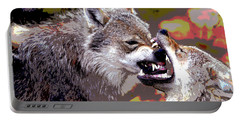 Norway Wolf Portable Battery Charger by Charles Shoup