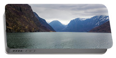 Portable Battery Charger featuring the photograph Norwegian Fjords by Suzanne Luft