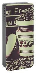 Nostalgic Cafe Art Portable Battery Charger