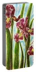 Nostalgic Irises Portable Battery Charger