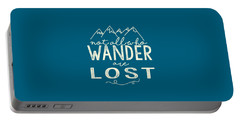 Not All Who Wander Portable Battery Charger