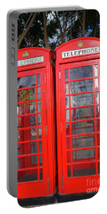 Not Quite Identical Twin Phone Boxes In Gibraltar Portable Battery Charger