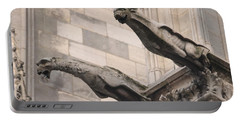 Portable Battery Charger featuring the photograph Notre Dame Cathedral Gargoyles by Christopher Kirby