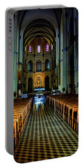 Portable Battery Charger featuring the photograph Notre Dame Cathedral Saigon by Joseph Hollingsworth