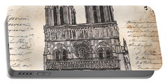 Notre Dame De Paris Portable Battery Charger by Debbie DeWitt