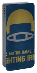 Notre Dame Fighting Irish Vintage Football Art Portable Battery Charger