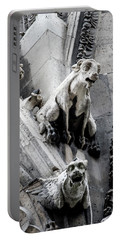 Notre Dame Gargoyles Portable Battery Charger by Jean Haynes