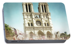 Portable Battery Charger featuring the photograph Notre Dame by Hannes Cmarits