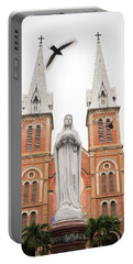 Notre Dame Ho Chi Minh City Portable Battery Charger by For Ninety One Days