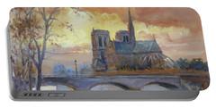 Notre Dame - Sunset, Paris Portable Battery Charger