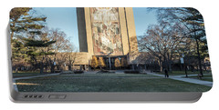 Notre Dame Touchdown Jesus  Portable Battery Charger