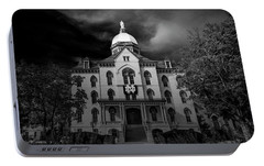 Notre Dame University Black White 3a Portable Battery Charger by David Haskett