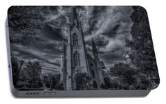 Notre Dame University Church Portable Battery Charger by David Haskett