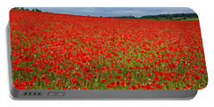 Nottinghamshire Poppy Field Portable Battery Charger