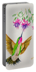 Portable Battery Charger featuring the painting Nourishment  by Katherine Young-Beck