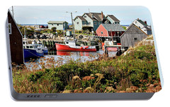 Portable Battery Charger featuring the photograph Nova Scotia Fishing Community by Jerry Battle
