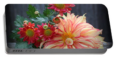 November  Flowers - Still Life Portable Battery Charger by Dora Sofia Caputo Photographic Art and Design