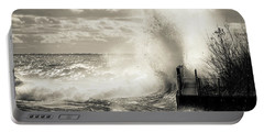 November Gales Bw Portable Battery Charger by James Meyer
