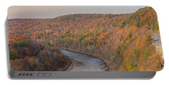 November Golden Hour At Hawk's Nest Portable Battery Charger
