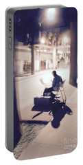 Night Music Portable Battery Charger by Suzanne Oesterling