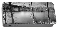 November On West Lake Portable Battery Charger by David Patterson