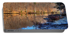 November Reflections - Bald Mountain Pond Portable Battery Charger