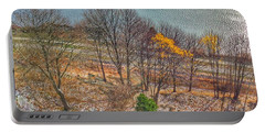 November Snow On Casco Bay Portable Battery Charger